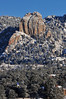 Walt Hester | Trail-Gazette<br /> New snow adorns the Twin Owls and Estes Park on Monday morning.