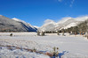 Walt Hester | Trail-Gazette<br /> Snow covers mountains and the Sheep Lakes on Monday. A weekend storm dropped about three inches of new snow on the lower elevations of the national park.