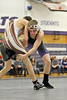 Walt Hester | Trail-Gazette<br /> Will Casey gets a leg up on his competition from Berthoud. The Bobcats had a difficult evening, losing all matches.