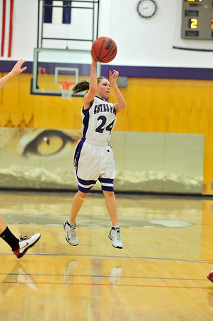 Walt Hester | Trail-Gazette<br /> Freshman Bizzy Palmer passes against Eaton last week. Palmer stepped in to the point guard role and helped lead the offense to a win over Valley on Tuesday.