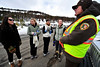 Walt Hester | Trail-Gazette<br /> New Jersey natives, from left, Bridget Campbell, Kelly Martin, Abbie Hansen and Brittany Sheehan talk with park volunteer Forrest McVicar at the Glacier Basin Park and ride on Saturday. Visitors from far and wide came to Estes Park and the national park for a weekend of fun.