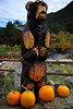 Walt Hester   Trail Gazette<br /> A large wooden bear seems to beg for more pumpkins along Moraine Avenue on Tuesday. As October progresses, autumnal events are emerging on the local calendar.