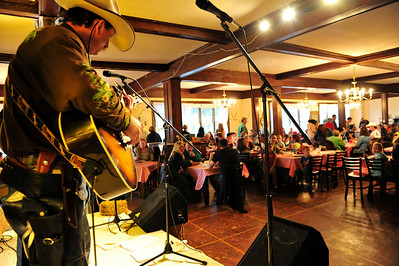 Walt Hester | Trail Gazette Musicians perform for the Estes Park Medical Center at the Elkhorn Lodge on Thursday. The hospital was celebrating its employees during the event.