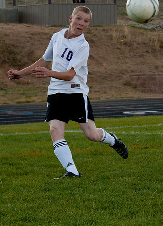 Walt Hester | Trail-Gazette<br /> Cain Bratrud, pictured earlier in the season, scored a hat trick against Bennett on Monday. Bratrud leads the 'Cats in goal-scoring.