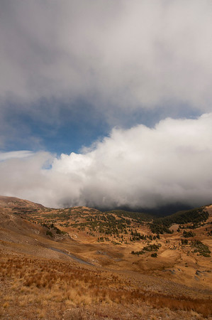 Walt Hester | Trail-Gazette<br /> Clouds roll up the east side of Fall River Pass on Wednesday. Clouds are in Friday's forecast, but clearer skys are expected for Saturday.