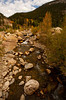 Walt Hester | Trail-Gazette<br /> The Roaring River takes on it's gental autumnal gurgle through the Alluvial Fan on Tuesday.