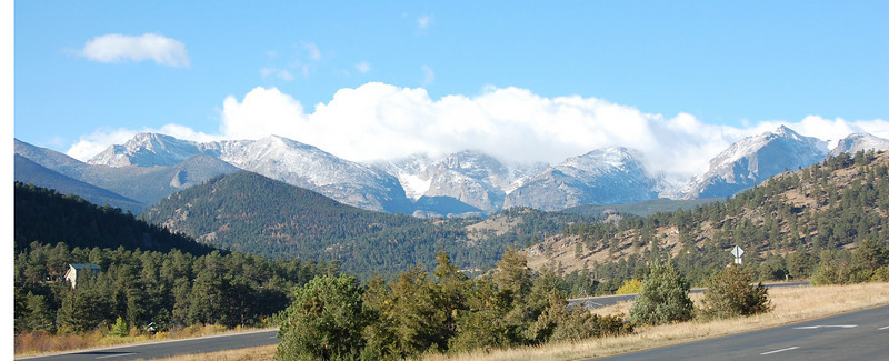 Clouds hang over the Continental Divide west of Estes Park.