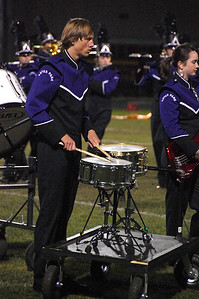 Bobcat snare drummer performs during halftime of the Bobcat's Oct. 8 game against Platte Valley.