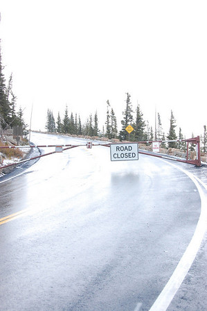 Drifting snow above treeline resulted inTrail Ridge Road being closed at Rainbow Curve in Rocky Mountain National Park Sunday Oct. 10.
