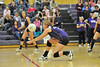 Walt Hester | Trail Gazette<br /> Ali Sheil goes for a dig against Highland last week. Scheil scored 11 kills in a losing effort against Lyons on Thursday.