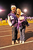 Walt Hester | Trail-Gazette<br /> Estes Park seniors Justin Wahler and Kyra Stark are crowned homecoming king and queen at halftime of Friday's football game.