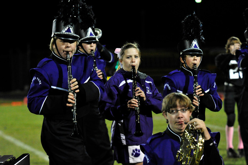 Walt Hester   Trail Gazette<br /> The Estes Park Marching Band performs their competition show at halftime of Friday's football game. The team placed fourth at the state competition on Monday.