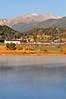 Walt Hester | Trail-Gazette<br /> Mist on Lake Estes causes a light sheen on the water on Sunday.
