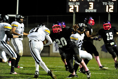 Walt Hester | Trail Gazette Kayle Robidart closes in on a ball carrier in October. Robidart is one of the defensive leaders for the Bobcats.