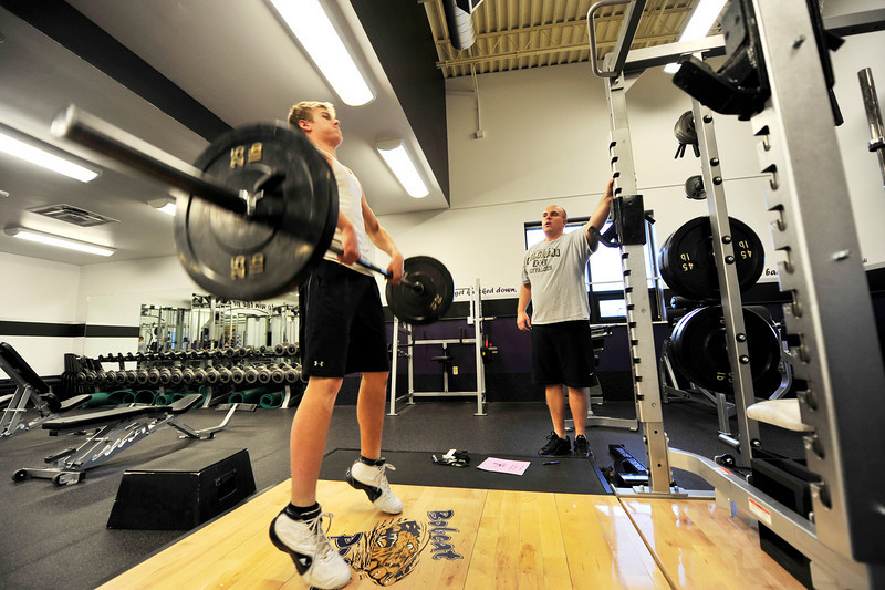 Walt Hester | Trail Gazette<br /> Freshman quarterback Frankie KellerTwigg hits the weight room three days after the end of the 2010 season. After a challenging freshman season, KellerTwigg will bring improved strength and a lot of experiance into next season.