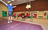 Walt Hester | Trail Gazette<br /> The Otters swim team runs through their CrossFit dry land workout at the old elementary school gym on Wednesday.