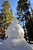 Walt Hester | Trail Gazette<br /> A diminutive snowman decorates the trail to Dream Lake on Monday. More snow is expected for the high elevations in Rocky Mountain National Park by Tuesday.