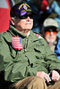 Walt Hester | Trail Gazette<br /> Ed Richards enjoys the Veterans' Day ceremony at the Estes Valley Memorial Garden on Friday. Richards received multiple purple hearts as an Army Ranger.