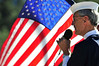 Walt Hester | Trail Gazette<br /> Milt Garrett reads a poem about Old Glory at Friday's Veterans' Day Celebration at the Estes Valley Memorial Garden. The ceremony lasted just short of an hour.
