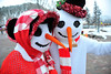 Walt Hester | Trail Gazette<br /> A pair of conspicuous greeters await visitors to Bond Park on Saturday. The snowman and woman may have to find shelter this weekend, as highs nudge into the 50's.