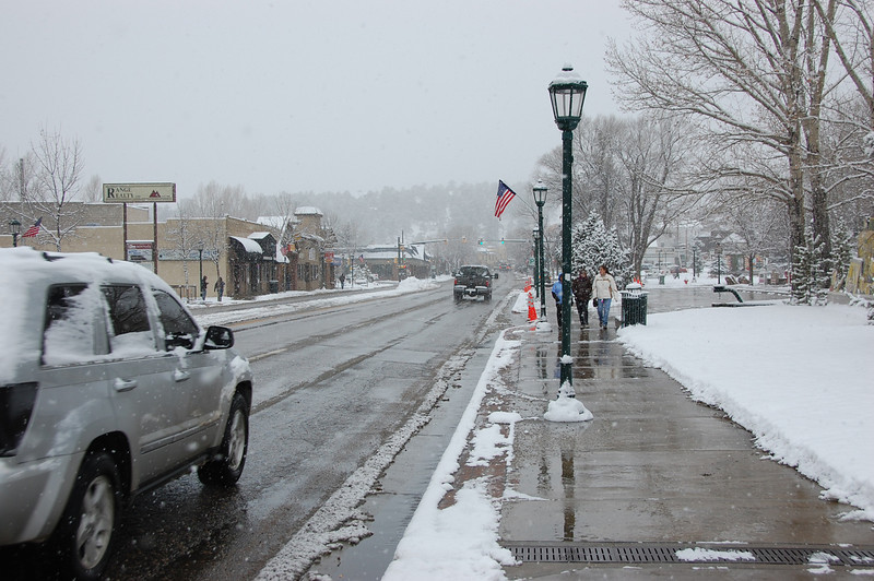 A Nov. 19 front dropped fresh snow on Estes Park. The original National Weather Service forecast was for less than a half an inch of snow. Some areas of Estes Park were reporting as much as 4.5 inches early in the morning.