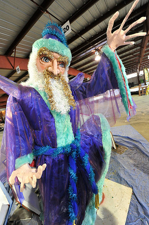 Walt Hester | Trail Gazette<br /> The wizard conjures up some answers for the parade. Every year, a new float, or two, shows up for the parade.