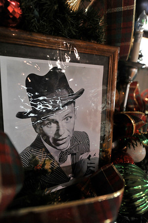 Walt Hester | Trail Gazette<br /> A photo of Frank Sinatra sits on a float for the parade. While most of the decorations on the floats are huge, if one looks closely, there are plenty of little details, as well.
