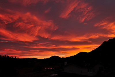 Walt Hester | Trail Gazette Morning clouds turn red ahead of the sun last Wednesday, Nov. 23. Morning clouds hav produced spectacular sunrises over the past several weeks.