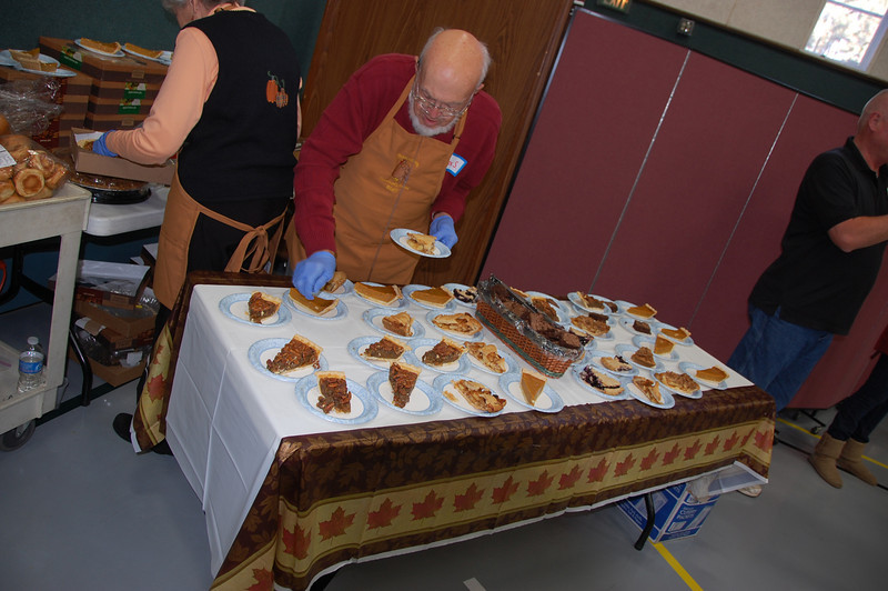 Dessert offerings at the 11th annual CommunityThanksgiving Feast included a variety of pies.