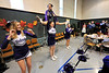 Walt Hester | Trail-Gazette<br /> Estes Park High School cheerleaders perform for the Free Community Thanksgiving Feast on Thursday.