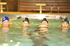 Walt Hester | Trail-Gazette<br /> A few of the swimmers expected to lead this year's Ladycats peform kick drills during Wednesday's practice. From left, Emily Franklin, Kate Hewson, Brittany Walters and Audra Sherman are just four of a strong and fast swim team.