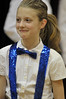 Walt Hester | Trail-Gazette<br /> Fifth-grader Lucy Baker smiles a bit after her solo during the Mountain Echoes choir concert on Tuesday night. The coir, made up of third through fifth-graders practiced throughout the fall for their two performances, Tuesday and Thursday.