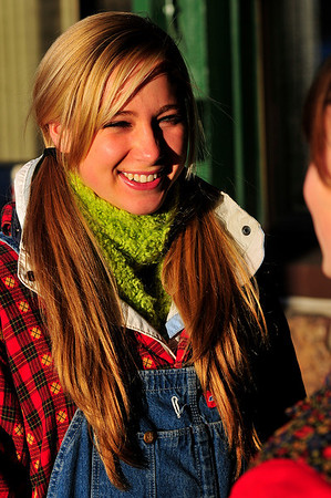 Walt Hester | Trail-Gazette<br /> Morgan Morris, 16, smiles in the low, warm light of late Friday afternoon while waiting to mount her float in the annual Catch the Glow parade.