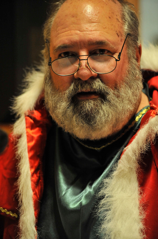 Walt Hester | Trail Gazette<br /> David Martin is the Spirit of Christmas, the narrator for the EPRTC's production of A Christmas Carol. The production opens Friday evening.