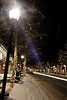 Walt Hester | Trail Gazette<br /> Car lights add to the cheery display along Elkhorn Avenue. The town has gone all out to make Estes Park as warm and inviting as a mountain town can be.