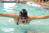 Walt Hester | Trail Gazette<br /> Emma Reins flys during the 100-yard individual medley on Saturday. Reins was the only swimmer to beat fellow Ladycat Kate Hewson during Saturday's Estes Sprint Pentathon.