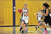 Walt Hester | Trail Gazette<br /> Eveylin Bangs drives up the floor against The Pinnacle earlier this month. Bangs led the Ladycats in scoring two of the teams three games last weekend, accumulating 41 points for the tournament.