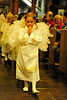 Walt Hester | Trail Gazette<br /> Evie Gittings, 4, leads a presession of angels down the center aisle during the annual Christmas Pagent on Sunday.