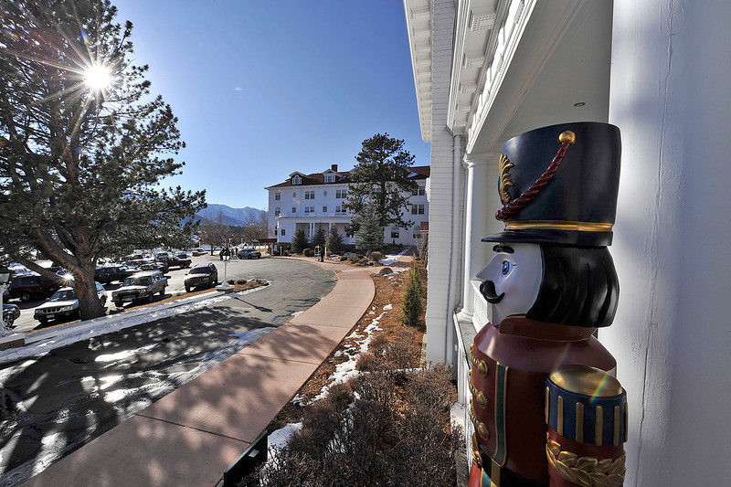 Walt Hester | Trail Gazette<br /> A nutcracker stands guard at the Stanley Hotel's Manor House on Saturday. This weekend, the Stanley Hotel sponsored the Grand Old Christmas, presented by the Estes Valley Historic Presevation Foundation.