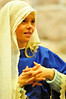 Walt Hester | Trail Gazette<br /> Camdyn Arnold, 11, awaits the angels and the Baby Jesus during Sunday's pagent. Sunday school students progress to new parts each year.