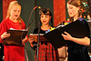 Walt Hester | Trail Gazette<br /> The younger acters sing a commercial jingle during the radio play. The play mirrors radio productions of the '40s.