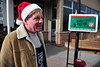 Walt Hester | Trail Gazette<br /> Rick Benton of Annapolis, Md., rings the Salvation Army bell at the Estes Park post office on Wednesday. Benton, who works for the Stanley Hotel, was in town and decided to take some time to help out.