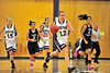 Walt Hester   Trail Gazette<br /> Amanda Dill drives the Ladycats' offense earlier this season. Dill lead the Estes Park girls scoring with 12 points against a dominant Machebeuf squad on Thursday. Estes Park lost 63-35.