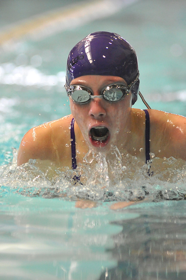 Walt Hester | Trail Gazette<br /> Holli Holmes swim in competition earlier this season. Holmes helped her team in the Coaches' Invitational this weekend as injury and illness hurt the Ladycats.