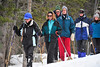 Walt Hester   Trail Gazette<br /> A family of snowshoers descends from Nymph Lake on Wednesday. Sunshine and warmer temperatures should make weekend snowplay more pleasant.