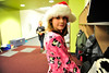 Walt Hester | Trail Gazette<br /> Emma Patterson sports a Santa hat and pink pajamas on Polar Express Day at the Estes Park Elementary School on Friday. Students enjoy the movie and hot cocoa on the last day of classes before winter break.
