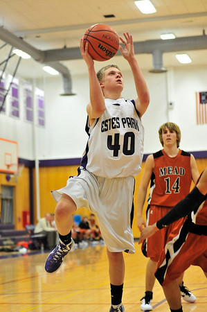 Walt Hester   Trail Gazette<br /> Taylor Marshall shoots for two of his 16 team-leading points on Tuesday. Marshall scored two of the teams three three-point baskets.