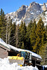 Walt Hester | Trail Gazette<br /> Heavy equipment moves snow out of the way at the Bear Lake parking lot on Wednesday. The warm day was a perfect opportunity to begin preparing for spring.