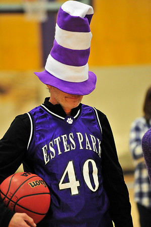 Walt Hester | Trail Gazette<br /> A Ladycats' parent prepares for a game he can't see on Thursday. The parents will get to see a couple more games as the Estes Park girl' basketball team heads to the District Semi-Finals on Thursday.