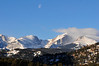 Walt Hester | Trail Gazette<br /> The moon slowly drifts across a mostly tranquil sky toward the Continental Divide on Tuesday. Skies are expected to change as the weekend approaches, with th posibility of snow in the forecast.